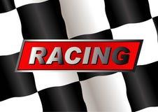 Bandeira Checkered Fotos de Stock