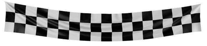 Bandeira Checkered Foto de Stock Royalty Free