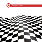 Bandeira Checkered Foto de Stock Royalty Free