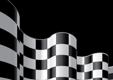 A bandeira Checkered ajustou 2 Imagem de Stock