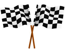 Bandeira checkered de terminação Fotografia de Stock Royalty Free