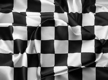 Bandeira checkered real Foto de Stock Royalty Free
