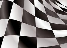 A bandeira Checkered revs Imagem de Stock