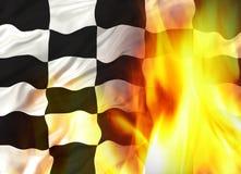 Bandeira Chequered Imagem de Stock Royalty Free