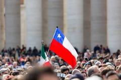 A bandeira chilena fotografia de stock royalty free