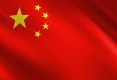 Bandeira chinesa Imagem de Stock Royalty Free