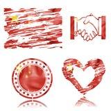 Bandeira chinesa, ilustração 3D Fotografia de Stock