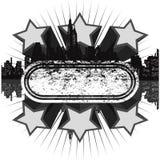 Bandeira cinzenta do disco de Grunge ilustração do vetor