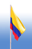 Bandeira colombiana. fotos de stock royalty free