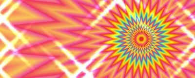 Bandeira colorida cor-de-rosa vermelha amarela RGB do efeito do raio Imagem de Stock