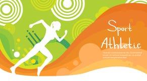 Bandeira colorida de Sprint Sport Competition do atleta do corredor Imagens de Stock