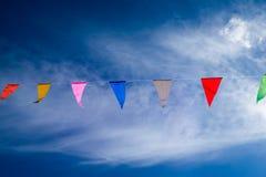 Bandeira colorida de suspensão Fotografia de Stock