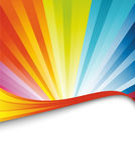 Bandeira colorida do aniversário do arco-íris Imagens de Stock