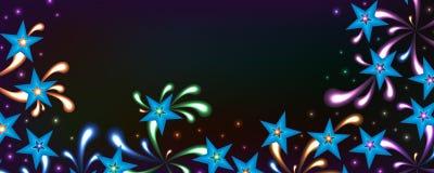 Bandeira colorida do espírito brilhante da estrela ilustração do vetor