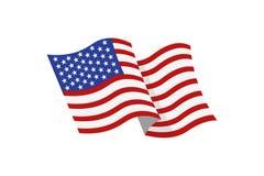 Bandeira colorida dos EUA Foto de Stock Royalty Free