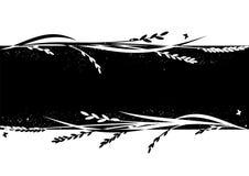 Bandeira com arroz ilustração do vetor