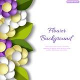 Bandeira com as flores 3d Para o convite ou o cartão Fotos de Stock Royalty Free
