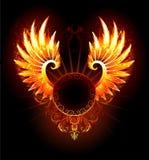 Bandeira com asas phoenix Fotos de Stock Royalty Free