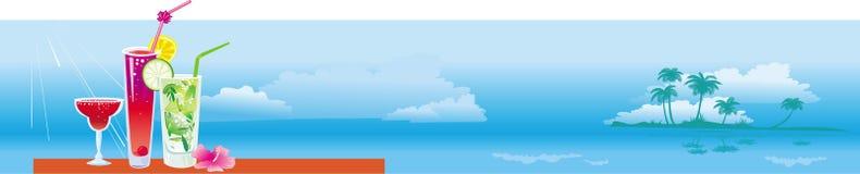 Bandeira com cocktail ilustração do vetor