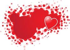 Bandeira com coração Foto de Stock