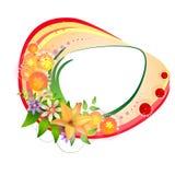 Bandeira com flores Imagem de Stock Royalty Free