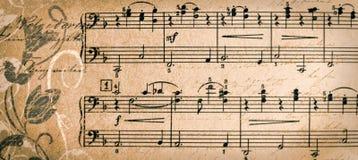 Bandeira com fundo da música do vintage - molde do encabeçamento da Web - Web imagem de stock royalty free