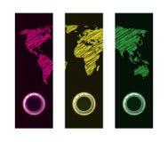 Bandeira com projeto especial do mapa Foto de Stock