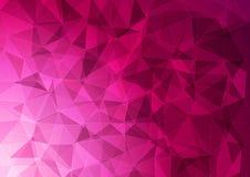 Bandeira com um teste padrão poligonal no rosa ilustração stock