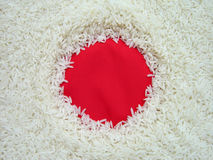 Bandeira comestível de Japão imagem de stock