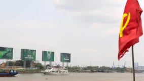 Bandeira comunista video estoque
