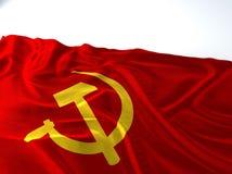 Bandeira comunista de ondulação Fotografia de Stock Royalty Free
