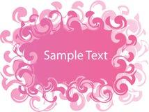 Bandeira cor-de-rosa e branca ilustração stock