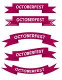 Bandeira cor-de-rosa escura de Octoberfest no vetor Fotografia de Stock Royalty Free