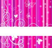 Bandeira cor-de-rosa. Ilustração do vetor Imagens de Stock Royalty Free