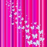 Bandeira cor-de-rosa. Ilustração do vetor Imagem de Stock Royalty Free