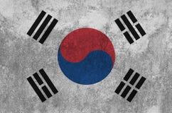 Bandeira coreana sul pintada na parede Imagens de Stock