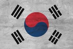 Bandeira coreana sul pintada na parede Fotografia de Stock Royalty Free