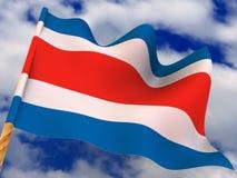 Bandeira. Costa-Rica Fotografia de Stock Royalty Free
