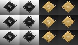 Bandeira criativa da venda com 10 fora Disconto do preço Fotografia de Stock