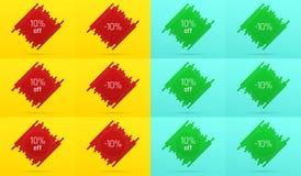 Bandeira criativa da venda com 10 fora oferta Foto de Stock Royalty Free