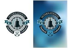 Bandeira criativa para o artesão náutico Fotografia de Stock Royalty Free