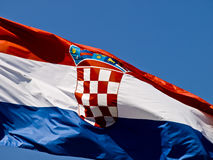 Bandeira croata Fotografia de Stock
