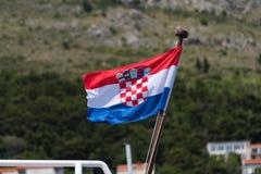 Bandeira croata Imagem de Stock