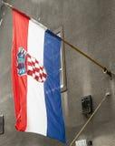 Bandeira croata Fotos de Stock Royalty Free