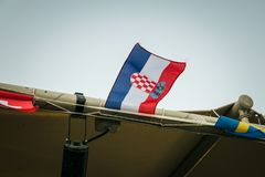 Bandeira croata pequena foto de stock royalty free