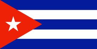 Bandeira cubana Fotografia de Stock