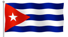 Bandeira cubana Fotos de Stock
