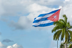 Bandeira cubana Fotografia de Stock Royalty Free