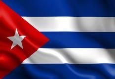 Bandeira cubana ilustração do vetor