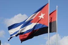 Bandeira cubana Imagem de Stock
